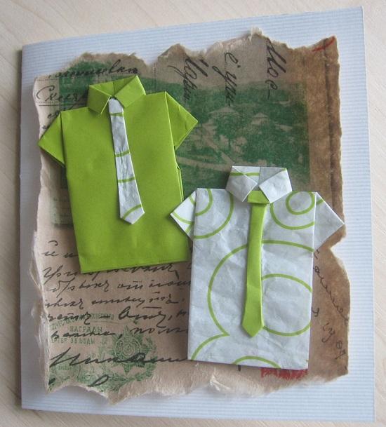 Открытки с днем рождения для дедушке рубашка с галстуком