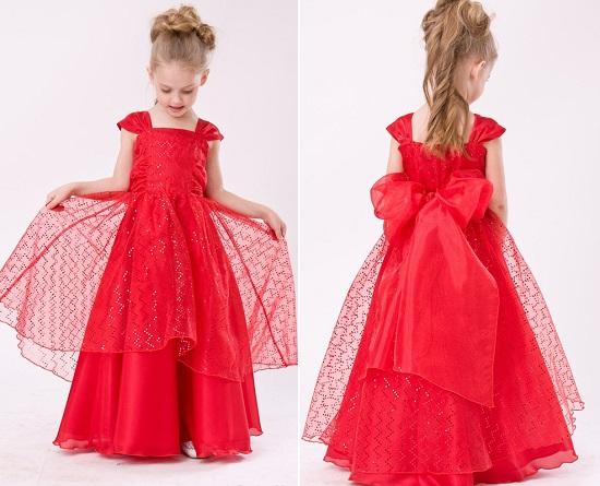 Детские платье для девочек на новый год - b