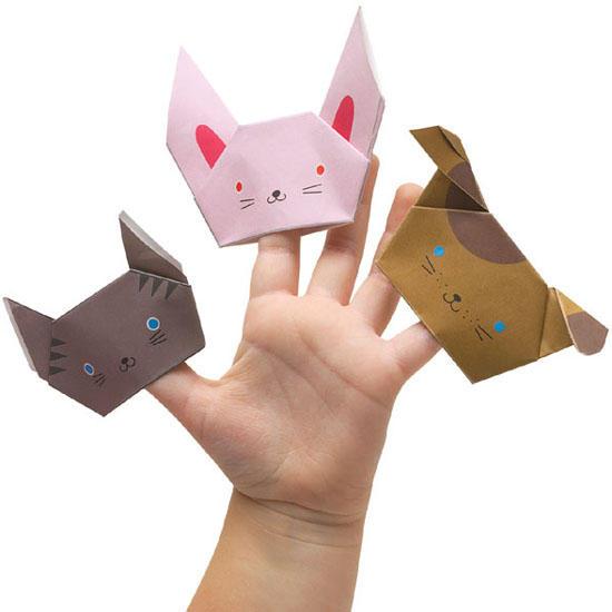 Кукла на палец из бумаги