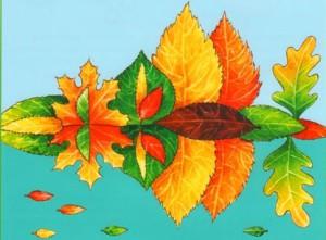 картины из листьев