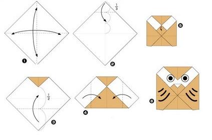 Легкое оригами из бумаги ко дню рождению