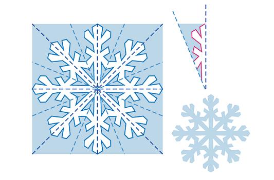 Маленькие снежинки из бумаги своими руками пошагово