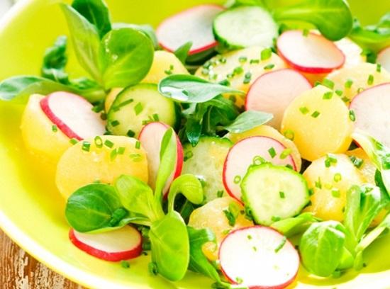 рецепты салатов из редиса
