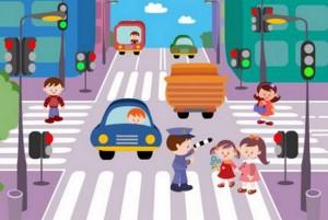 обучение детей правилам дорожного движения