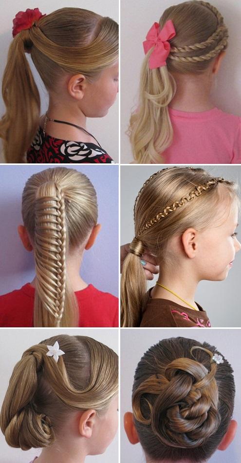 прически на длинные волосы ребенку на утренник