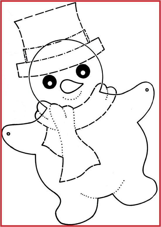 Скачать шаблон снеговика для гирлянды