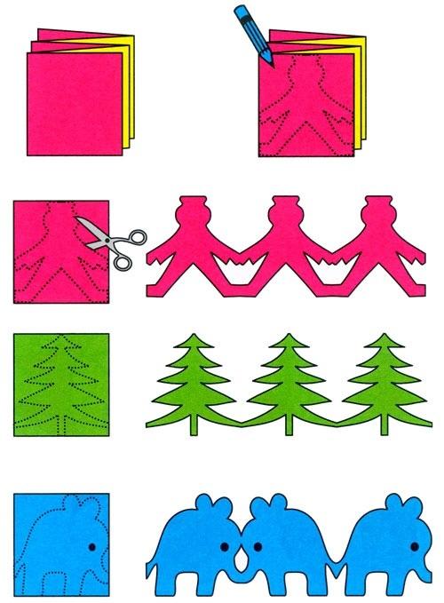 Новогодние гирлянды своими руками для детей