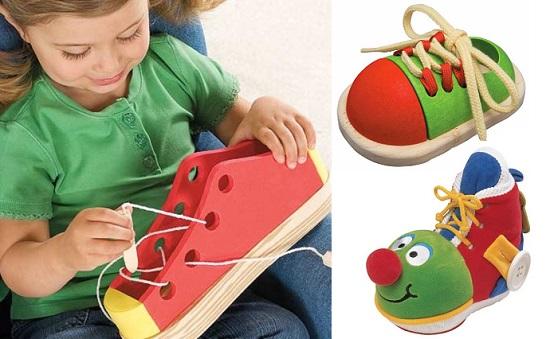 как научить ребенка завязывать шнурки