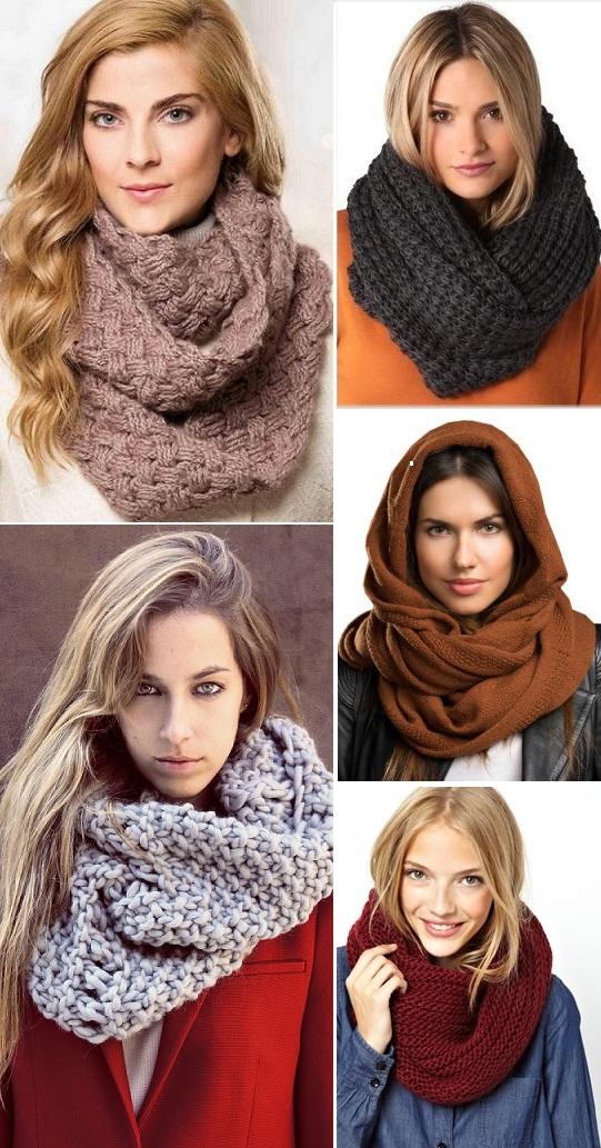 как правильно носить шарф снуд