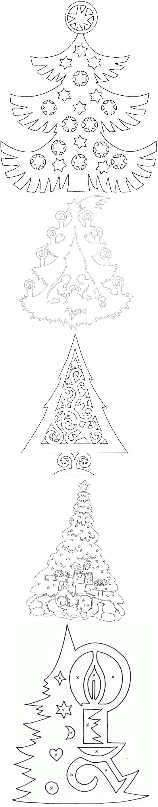 вытынанки схема рождества