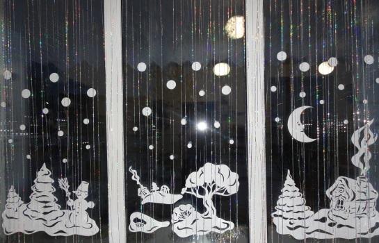 схемы новогодних вытынанок на окна