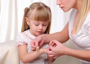 мокнущая рана у ребенка