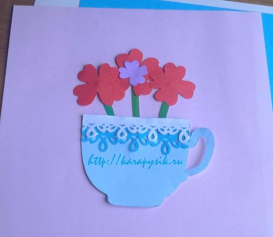 открытка ко дню матери своими руками