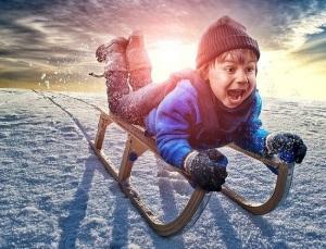 санки или снегокат