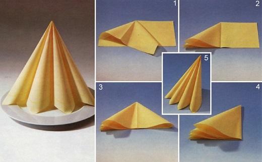 как сложить бумажные салфетки