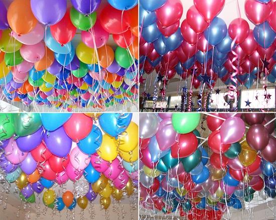 украшение зала шарами на выпускной