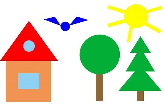 Картинки из геометрических фигур для детей распечатать 11