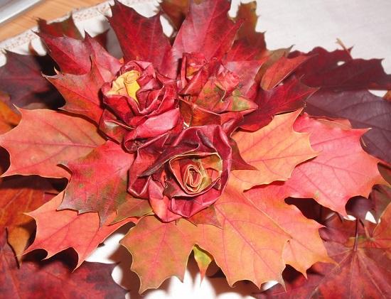 букет из листьев