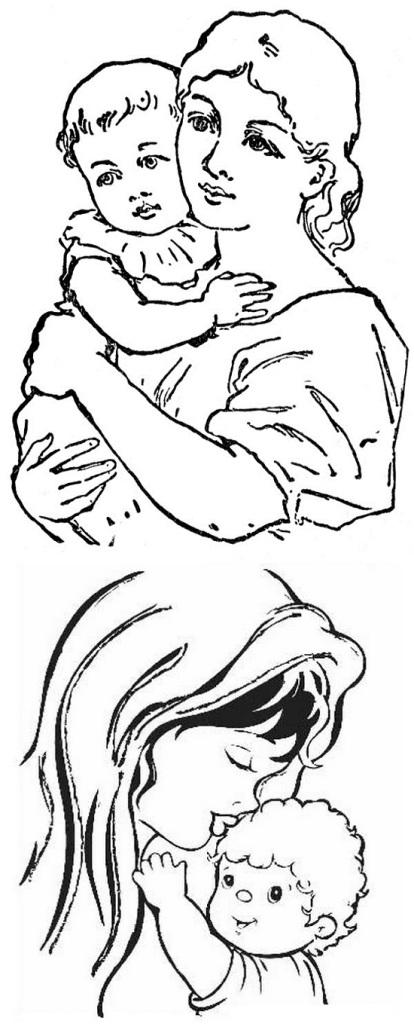рисунок ко дню матери детям