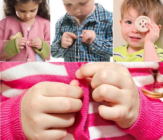 как научить ребенка застегивать пуговицы