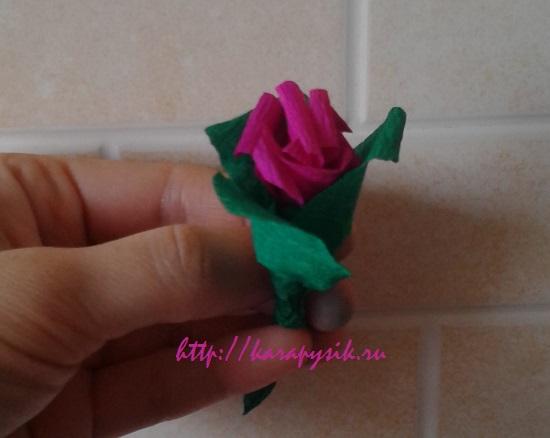 как сделать букет цветов из гофрированной бумаги