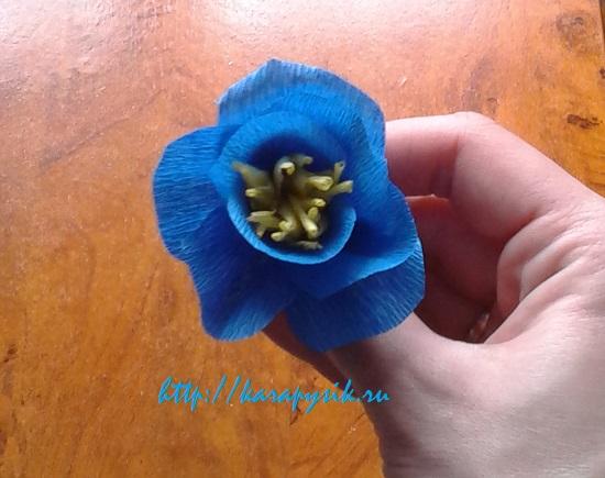 букет цветов из гофрированной бумаги своими руками