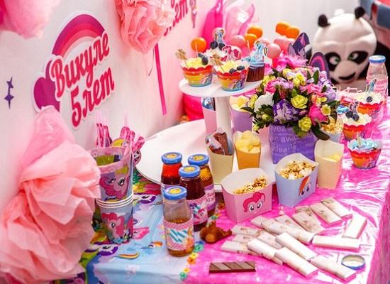 сервировка стола на детский день рождения