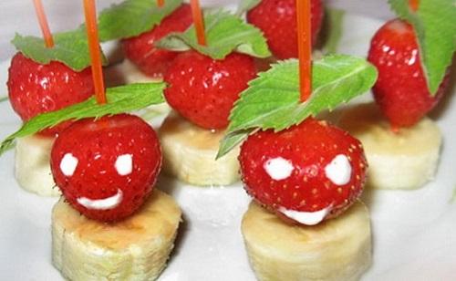 канапе из фруктов для детей