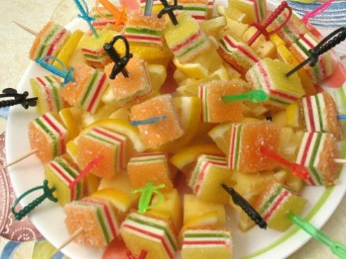 фруктовое канапе детям на день рождения