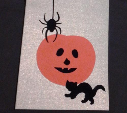 открытка на Хэллоуин своими руками