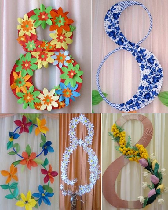украшения зала на 8 марта в детском саду