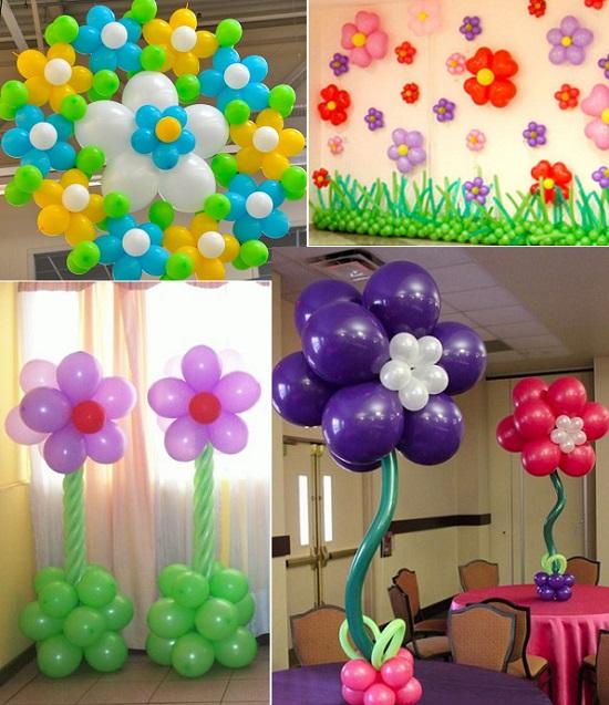 украшение зала на выпускной шарами