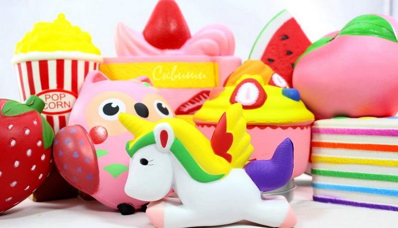 игрушки антистресс сквиши