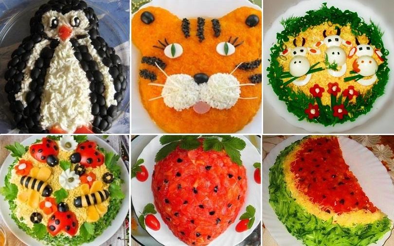 Оформление детского блюд на день рождения своими руками фото