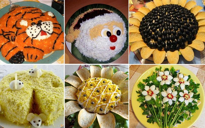 украшение блюд на детский праздник