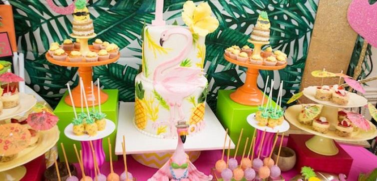 праздник в стиле фламинго