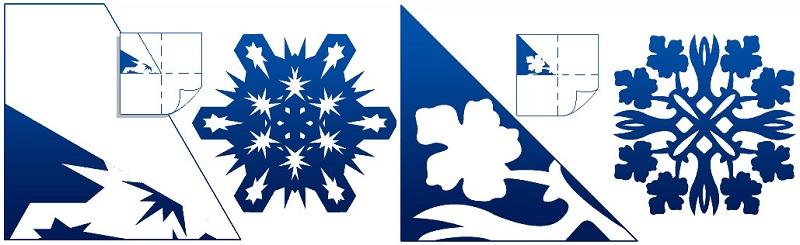 красивые снежинки из бумаги схемы