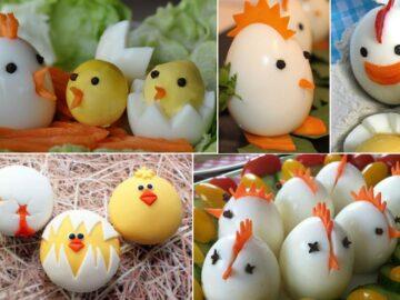 украшения из вареных яиц