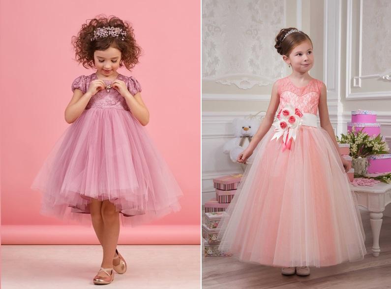 розовые платья на выпускной в детский сад