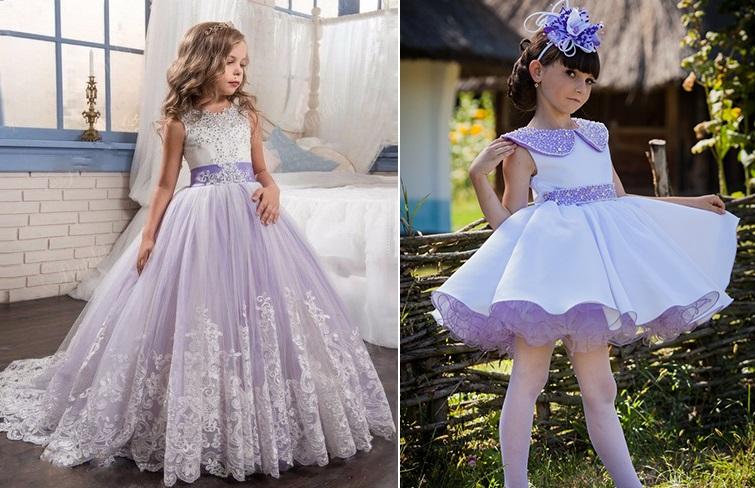 фиолетовые платья на выпускной в детский сад