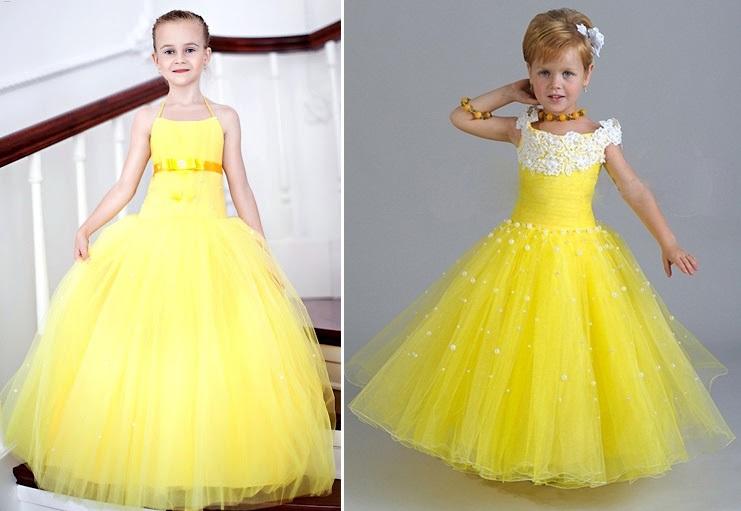 желтые платья на выпускной в детский сад