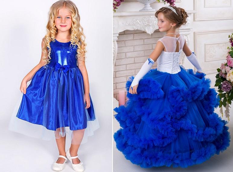 синие платья на выпускной в детский сад
