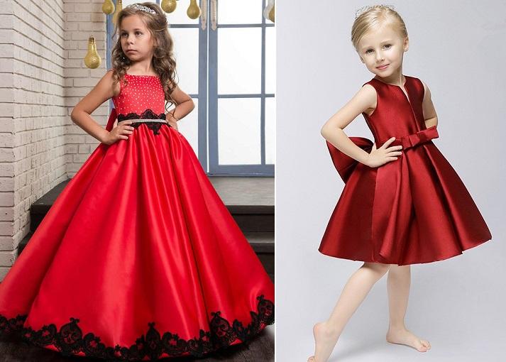 красные платья на выпускной в детский сад