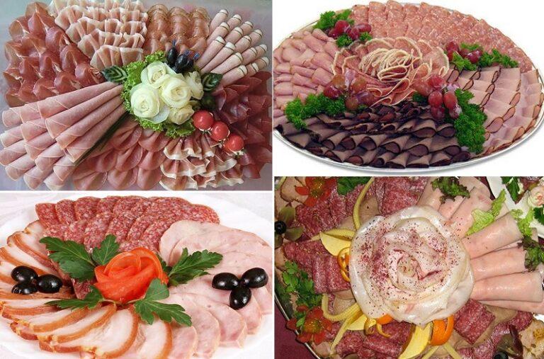пошаговая схема выкладки нарезки мяса фото